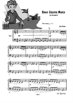 Brave Soldiers March (play Playfully) easy piano